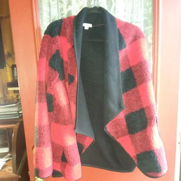 Sonoma Jackets & Blazers - Sonoma buffalo plaid fleece jacket